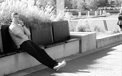 Mindfulness- Lauren MacFarland, BCIT Journalism (laurenmacfarland) Tags: streetphotography coalharbour bcitvisualfundamentals candidphotography vancouver downtownvancouver