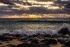 Kauai Sunrise 2015-2 (Kaua'i Dreams) Tags: hawaii kauai ocean waves pacific sunrise sun clouds water rocks crashingwaves lavarocks beach sand