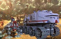 Lego Clone Turbo Tank & AT-TE (schmidtproject) Tags: lego clone star wars custom tank
