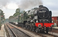 LMS Class 4-6-0 No. 46100 'Royal Scot' at Medstead & Four Marks. The Mid Hants Railway Autumn Steam Gala - 21st Oct 2016 (allan5819 (Allan McKever)) Tags: 46100 royalscot midhantsrailway preserved lms 460 passenger line thewatercressline loco engine travel transport heritage