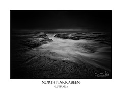 Narrabeen seascape moody weather (sugarbellaleah) Tags: narrabeen seascape rocks flowing water ocean sea tide blackandwhite crevice channel moody weather nature environment scene waves australia northernbeaches