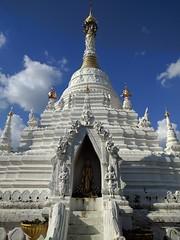 White stupa - Chiang Mai, Thailand (ashabot) Tags: wat thailand buddhist buddhisttemple temple chiangmai white whiteandblue simplicity seasia bluesky blue explore