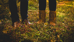 Untitled (Leigh Anne Brader) Tags: vineyard couple pet dog petsession couplesession marriedcouple love inlove happy happiness warm warmlight sunset maryland boots leather shoes fringe grapevines vine wine marylandvineyard lovers