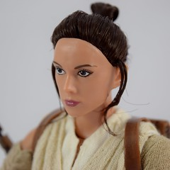Star Wars Elite Series Rey Premium Action Figure - Disney Store Purchase - Deboxed - Freestanding - Closeup Right Front View (drj1828) Tags: starwars theforceawakens rey figure actionfigure purchase disneystore eliteseries premium posable 10inch deboxed freestanding