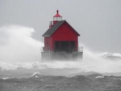 DSCN7804 (2) (John Rothwell) Tags: grandhaven michigan gale waves november winter fall cold nasty windy lakemichigan lake lighthouse pier