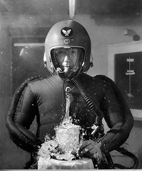 #A man stood in a pressurized chamber to simulate altitude of 65,000 feet with a beaker of boiling water. dated Feb. 8, 1953 [850 x 1024] #history #retro #vintage #dh #HistoryPorn http://ift.tt/2fTQquQ (Histolines) Tags: histolines history timeline retro vinatage a man stood pressurized chamber simulate altitude 65 000 feet with beaker boiling water dated feb 8 1953 850 x 1024 vintage dh historyporn httpifttt2ftqquq