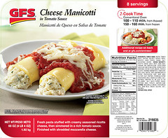 """RECALLED - """"Request Foods, Inc. Issues Allergy Alert On Undeclared Eggs In GFS® Brand Cheese Manicotti"""", Nov 17, 2016 (The U.S. Food and Drug Administration) Tags: foodsafety allergen gfs request foods"""