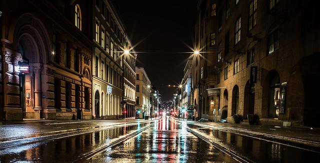 Rainy Night in oslo