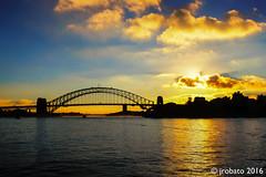 Harbour Bridge Sunset (orgazmo) Tags: fuji fujifilm fujix fujinon xf1855mmf284ois xpro2 australia downunder sydney sydneyharbour nsw newsouthwales bridges structures sun sunsets sundown sunstars harbourbridge