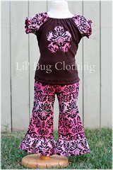 Damask (Lil' Bug Clothing) Tags: top peasant pant damask