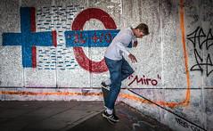 Miro (#Weybridge Photographer) Tags: urban slr london westminster canon eos grafitti skateboarding board south skating bank southbank adobe skate skateboard skater trick dslr miro boarding wheelie lightroom 40d