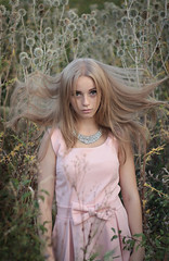 Caught (Pavlo Kuzyk) Tags: flowers nature girl canon eyes pretty dress ukraine blond blonde ivanofrankivsk