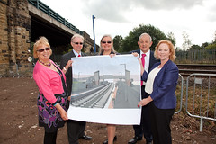 Breaking ground at the new Low Moor railway station