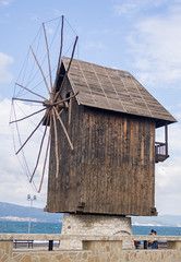 The Mill (zsonemes) Tags: old travel sea summer black travelling mill tourism water weather clouds pen lite town seaside europe cloudy young olympus traveller bulgaria amateur nesebar hungarian nessebar zd epl5