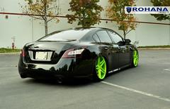 Nissan Maxima - RC8 Lime Green (6) (Rohana Wheels) Tags: nissan wheels rims concave maxima nismo rohana nissanmaxima rc8 4dsc rcseries rohanawheels nissanpower