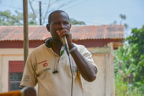 "Health Access Connect Field Officer Deo ""Mpola Mpola"" Miiro served as the Master of Ceremonies"
