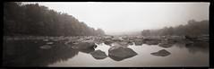 River Rocks (DRCPhoto) Tags: panoramic pinhole 120film westvirginia kodakbw400cn cheatriver lenslessphotography blindwino 6x18format