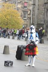 Edinburgh October 2015 (redshoesd) Tags: city man canon scotland starwars edinburgh kilt royalmile stormtrooper