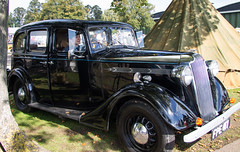 WRAF driver in 1937 Vauxhall DX Saloon (Beth Hartle Photographs2013) Tags: duxford reenactment raf scramble dispersal homeguard wraf middlewallop 609sqndispersal 1940battleofbritainairshow airtrafficcontrolcaravan wrafdriver 1937vauxhallcar