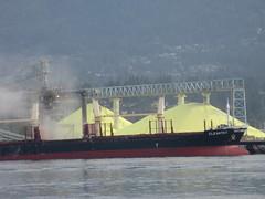 Sulphur (or sulfur) (jamica1) Tags: park canada vancouver dock bc columbia seawall stanley sulphur british sulfur cleantec
