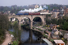 4468_Knaresborough_260487_2387C-a2 (Tony.Woof) Tags: steam mallard a4 knaresborough lner 4468