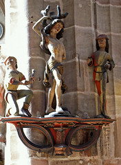 Nürnberg, Lorenzkirche, Sebastiansgruppe - St. Lawrence Church, St. Sebastian's group (HEN-Magonza) Tags: germany bayern deutschland bavaria nuremberg franconia franken nürnberg lorenzerplatz stsebastian lorenzkirche stlawrencechurch stlorenzkirche hlsebastian sebastiansgruppe