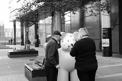 (L D Middleton) Tags: bear street old woman man photography fuji picture bbc fujifilm salford quays pudsey tclx100 x100t ldmiddleton