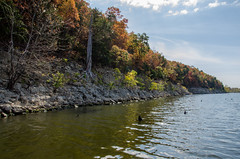 Fall at Pomme de Terre Lake, Missouri (Gary Allman) Tags: lake water out de us fishing nikon day unitedstates missouri terre gsa ozarks pittsburg pomme dayout angling pommedeterrelake d7000 nikond7000