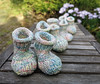 4 pairs of baby booties (cats_in_blue) Tags: knitting babybooties strik