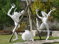 Cauldron dance (LIVING THROUGH THE LENS WEEKLY PHOTO CHALLENGE: Halloween) (Kaarina Dillabough) Tags: halloween paper dance cauldron sculptures