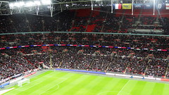 Fans at Wembley (Ben Sutherland) Tags: france wembley lamarseillaise englandvfrance liberteegalitefraternite frenchteam frenchfootball frenchfootballteam frenchfootballfederation francefootballteam parisattacks francefootballfederation