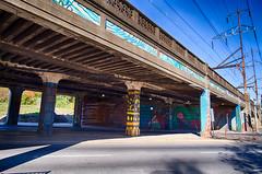 Colorful Underpass (JCTopping) Tags: decay zoo septa mural streetart graffiti concrete bridge philadelphia pennsylvania unitedstates us philadelphiazoo hdr