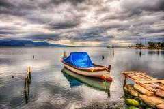 Gray Day (Nejdet Duzen) Tags: trip travel sea reflection turkey boat fishing cloudy jetty trkiye deniz iskele sandal izmir yansma turkei seyahat balklk bulutlu maviehir