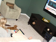 jada-watching-tv--i-think-shes-making-herself-right-at-home--shes-one-of-ginger-and-chewys-puppies-_2375192240_o