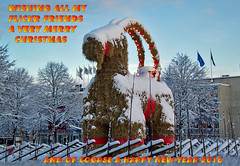 Merry Christmas 2015 and a Happy New Year 2016 (crusaderstgeorge) Tags: christmas new winter friends happy flickr sweden snowy year gävle everyone sverige wintertime merrychristmas flickrfriends 2016 2015 gävleborg godjul snöig julbocken gävlebocken yuletid merrychristmas2015 happynewyear2016 christmassiness christmas2015andahappynewyear2016