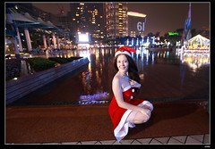 nEO_IMG__MG_2507 (c0466art) Tags: christmas city light portrait reflection girl rain night canon garden photo big amazing colorful pretty view julia outdoor gorgeous event lamps charming russian celebrate decroration 1dx banchao c0466art