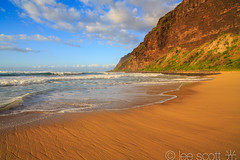 Polihale State Park, Kauai beach, surf and pali (lee scott 光) Tags: ocean sunset usa seascape beach nature water flow outdoors hawaii movement sand calming kauai polihale serene eveninglight leescott beachscene kauaisunset hawaiianislands polihalebeach polihalestatepark rightsmanaged kauaibeach polihalesunset sandyshore hawaiiancoastline kauaibeaches leescottphotographer leescottphotography
