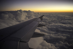 sunset over the clouds (efrainsalvadorjr) Tags: airplane flying cloudporn lightroom naturephotography spiritairlines skyporn sonyalpha rokkor40f2 sonya7r
