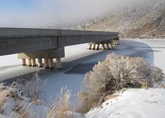 York Bridge.  Montana (montanatom1950) Tags: york snow ice water montana helena helenamontana yorkbridge yorkmontana