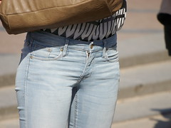 Jeans girl (Zangeressenlive) Tags: street girls hot cute sexy candid jeans denim tight