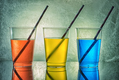 Happy Hour..... (simonbrown79) Tags: drinks colours red yellow blue straws