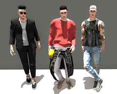 I'm so far outta sight. (Levi Megadon // *OMG*) Tags: sl secondlife men mens male blogger blog stylish style look outfit mesh lotd event themensdept tmd new modulus hair 7style sweater jumper breathe shirt waist tied pumpkin chinos slim pants skinny valekoer yeezy beezy sneakers sneaks urban street wear dope fresh cool hipster sorgo shades glasses newclover blazer coat versov vans lowtops mina 2byte cap hat dad caboodle tank top represent denim jeans e3d shoes hightops studs studded spiked