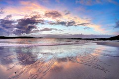 Scissors (pauldunn52) Tags: hosta beach sunset outer hebrides north uist scotland reflection wet sand