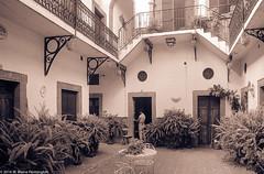 CourtyardMexico84SanMiguelDeAllende (Zzzzt!Zzzzt!) Tags: mexico sanmigueldeallende 1984 courtyard openairinterior architecture