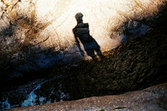 autoportrait au torrent (asketoner) Tags: shadow river rock water cévennes france summer canyon edge blue