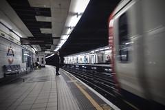 Monument (steven.kemp) Tags: monument tube underground station train london city england platform movement blur