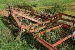 Abandoned harrow (bonzoWiltsUK) Tags: farmmachinery harrow abandoned rusty masseyferguson