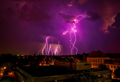 Flurry (mizan3950) Tags: lightning longexposure storm cloud d3100 nightphotography photoshop lightroom thunder thunderstorm sky manipulated