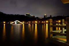 (linwujin) Tags: asia taipei taiwan park dahupark lake bridge night light water