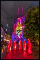 St. Nicholas' Angel (Mikedie1) Tags: berlin germany stnicholaschurch nikolaiviertel nikolaikirche kirche church angel engel light festivaloflights fol canon 80d sigma 1020mm